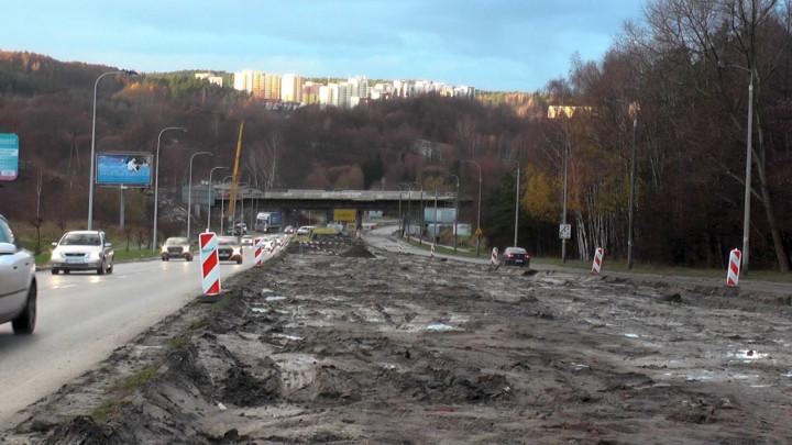 Pierwsze prace na budowie linii tramwajowej na Morenę.