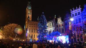 Mikołaj zapalił lampki na choince w Gdańsku