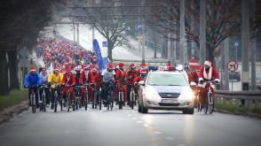 Mikołaje na rowerach 2013