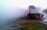 Spalony autobus na Karczemkach