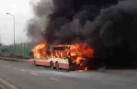 Pożar autobusu Gdańsk Karczemki