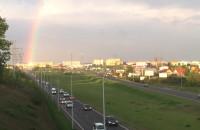 Pełna tęcza nad Gdańskiem
