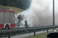 Pożar dźwigu na obwodnicy