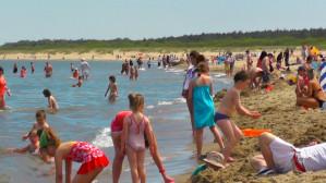 Tłumy na Plaży Stogi. Pogoda dopisała