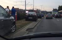 Kolizja pięciu aut przed Zieleniakiem