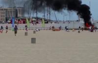 Pożar motorówki w gdyńskiej marinie