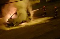 Pożar samochodu na ul. Jaskółczej