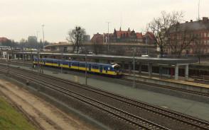 Pierwszy oficjalny wjazd SKM-ki  na stację Gdańsk-Śródmieście