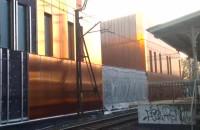 Okładzina sopockiego dworca od strony torów