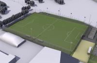 Wizualizacja ministadionu na Zaspie