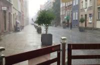 Oberwanie chmury po południu w Gdańsku