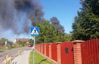 Pożar hali w Borkowie