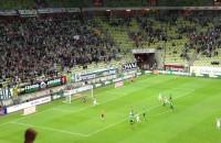 Vranjes strzela karnego w meczu z Górnikiem