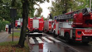 Zablokowana ul. Polanki - ćwiczenia strażaków