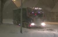 Śnieżna nawałnica VsV Ciężarówka