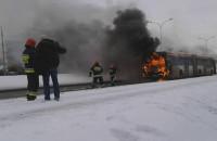 Pożar autobusu na Al.Havla