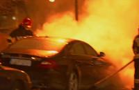 Pożar samochodu na ul. Kołobrzeskiej
