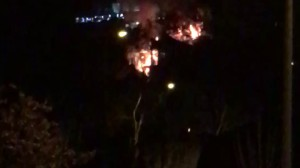 Pożar Willi Orlej na Kamiennej Górze w Gdyni