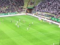 Gol Sławomira Peszki na 1:0 w meczu Lechia - Legia