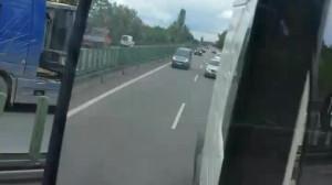 Korek po wypadku - obwodnica w stronę Gdyni