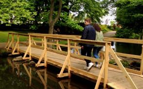 Zastępcze mostki w Parku Oliwskim