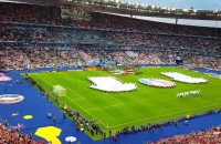 Hymn Polski przed meczem z Niemcami