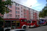 Strażackie wozy na ul. Chylońskiej