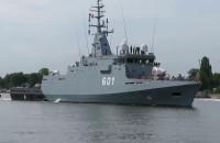 Okręt Kormoran wyszedł na Zatokę Gdańską