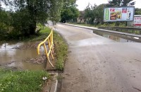 Zamknięta Niepołomicka - zalane domy