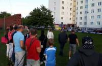 Ewakuacja wieżowca na Zaspie przy ul. Jana Pawła II 25
