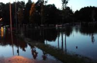 Zalana Reda (park) przez rzekę  Reda