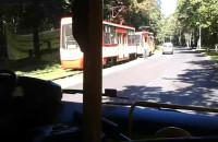 Wykolejony tramwaj na Stogach