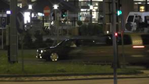 Wyścigi kierowców na al. Grunwaldzkiej przy Hali Olivia