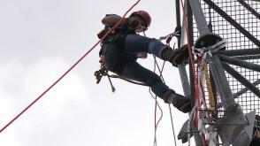 Najlepsi alpiniści przemysłowi rywalizowali w Gdańsku