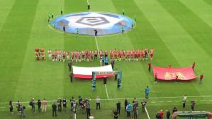 Hymn państwowy przed meczem Lechia Gdańsk - Korona Kielce