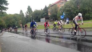 Peleton Cyklo Gdynia po starcie