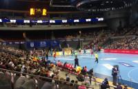 Bramka Łukasza Rogulskiego w meczu Wybrzeże - Vive Tauron