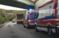 Wypadek na Drodze Gdyńskiej pod wiaduktem