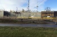 Ściana betonu na Forum Gdańsk