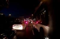 Korek na ul. Wiśniewskiego w Gdyni z perspektywy motocyklisty