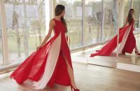 Miss w sukience z kaszubskimi motywami