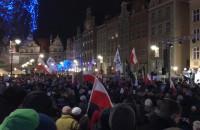 Manifestacja KOD-u na Długim Targu