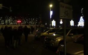 Tłumy i korki przy parku Oliwskim