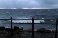Orkan Barbara na falochronie zachodnim