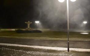 Nocna wichura na Bulwarze Nadmorskim