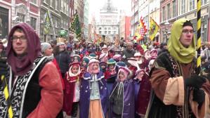 Gdański Orszak Trzech Króli 2017 w śnieżnej scenerii