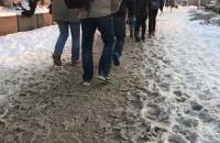 Śnieg na chodnikach