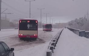 Autobusy zablokowały Rakoczego w Gdańsku