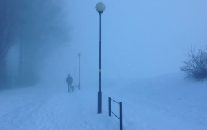 Bardzo gęsta mgła w centrum