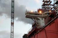 Pożar na stoczni remontowej HANNE KNOT